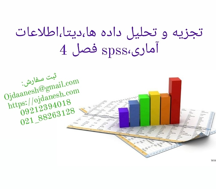 تجزیه و تحلیل داده ها دیتا اطلاعات آماری spss فصل ۴